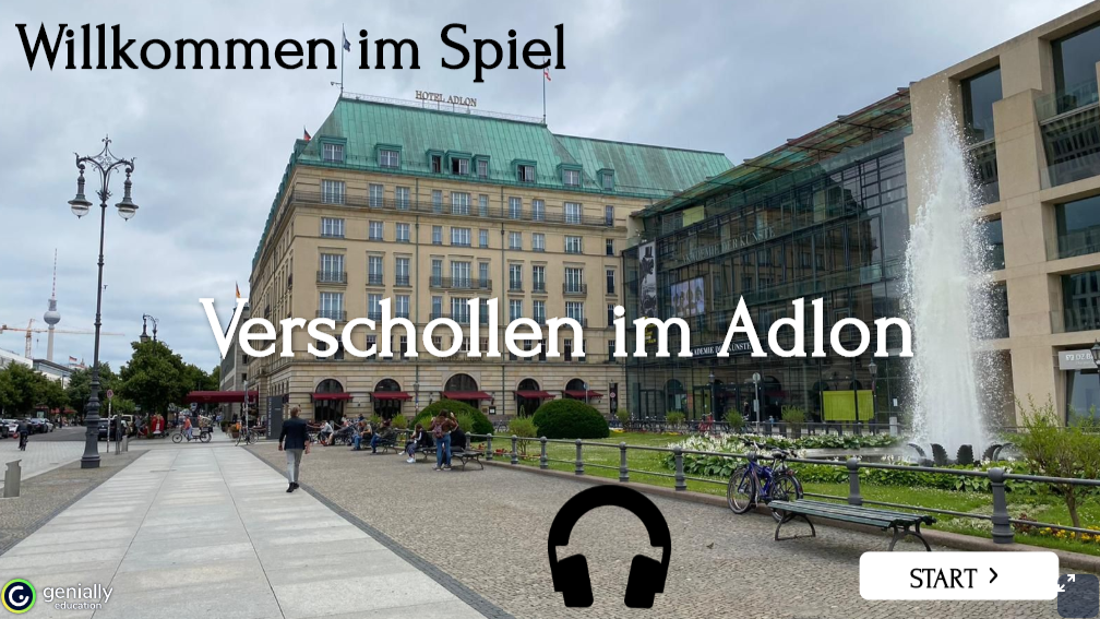 Verschollen im Adlon – ein virtueller Escape-Room (ab B2)